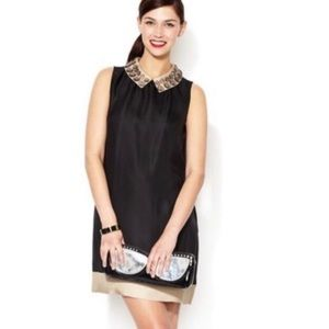 Kate Spade Harlow Jeweled Collar Black Dress